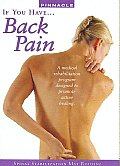 If You Have Back Pain (Spinal Stabili
