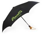 Powells Umbrella Black with Green Logo