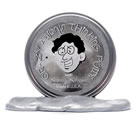 Crazy Aaron's Thinking Putty Metallic Shiny Silver Large Tin