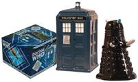 Dr. Who TARDIS v. Dalek Salt and Pepper Shaker Set