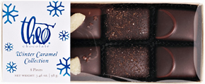 Theo Chocolate Winter Caramel Collection (Eight Pieces)