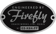 Engineered by Firefly Oval Sticker