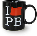 Powells I Oregon PB Black Mug