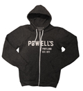 Powells Hoodie Medium Gray Sweatshirt