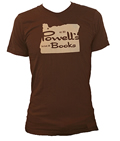 Powell's Oregon T-Shirt (Brown, Small)