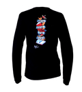 Powells Tattoo Shirt Large Black Long Sleeve