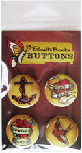 Powells Books Tattoo Button Pack