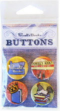 Powells Books Denim Button Pack