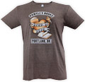 Powells Born to Read Shirt Small Brown
