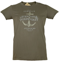 Powell's Legendary and Independent T-Shirt (Kelp, Women's Medium)