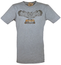 Powells Owl Shirt Small Heather Grey