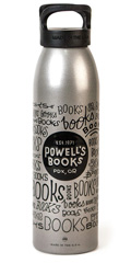 Powell's Silver Books, Books, Books Water Bottle (24 oz.)