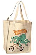 Powells Books Octopus Tote Bag Organic Cotton Natural Design Contest Winner 2