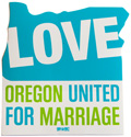 Oregon United for Marriage Sticker