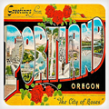 Greetings from Portland Ceramic Coaster