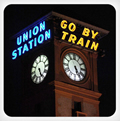 Union Station Go By Train Ceramic Coaster