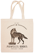 Powells Timber Wolf Tote Bag