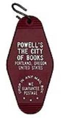 Powell's Motel Keyring Burgundy