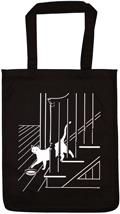 Cat on Stairs Tote Bag