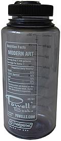 Powells Modern Art Water Bottle Slate Bl