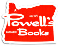 Powell's Oregon Sticker (Red)