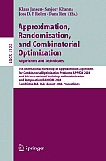 Approximation, Randomization and Combinatorial Optimization. Algorithms and Techniques: 7th International Workshop on Approximation Algorithms for Combinatorial Optimization Problems, APPROX 2004 and