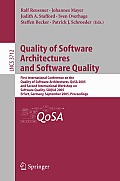 Quality of Software Architectures and Software Quality: First International Conference on the Quality of Software Architectures, QoSA 2005 and Second International Workshop on Software Quality, SOQUA  Cover