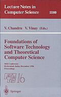 Foundations of Software Technology and Theoretical Computer Science: 16th Conference, Hyderabad, India, December 18 - 20, 1996, Proceedings