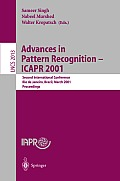 Advances in Pattern Recognition - ICAPR 2001: Second International Conference Rio De Janeiro, Brazil, March 11-14, 2001 Proceedings
