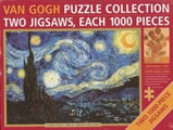 Van Gogh Two 1000 Piece Jigsaw Puzzles Starry Night & Sunflowers