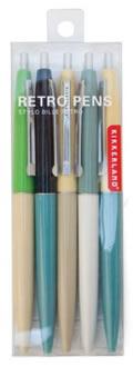 Retro Pen Set Of 5