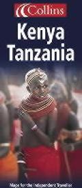 Collins Kenya Tanzania Map