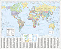 The Times Map of the World: Laminated Wall Map (Times Atlases)