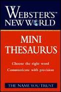Websters New World Mini Thesaurus