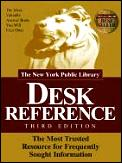 New York Public Library Desk Refer 3rd Edition