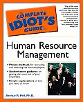Complete Idiot's Guide To Human Resource Management (Complete Idiot's Guides) Cover