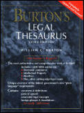 Burtons Legal Thesaurus 3rd Edition