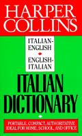 Harper Collins Italian dictionary :Italian-English, English-Italian. Cover