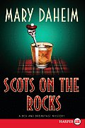 Scots on the Rocks (Large Print) (Bed-And-Breakfast Mysteries) Cover