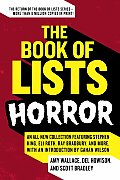 Book Of Lists Horror An All New Collection Featuring Stephen King Eli Roth Ray Bradbury & More with an Introduction by Gahan Wilson