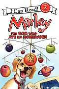 Marley: The Dog Who Ate My Homework (I Can Read Marley - Level 2) Cover