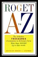 Roget a To Z the Definitive Thesaurus Of
