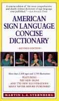 American Sign Language Concise Dictionary: Revised Edition Cover