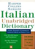 Harpercollins Sansoni Italian Unabridged Dictionary