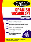 Schaums Outline Spanish Vocabulary 2nd Edition