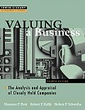 Valuing A Business The Analysis & 4th Edition