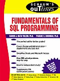 Schaum's Outline of Fundamentals of SQL Programming (Schaum's Outlines) Cover