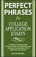 Perfect Phrases for College Application Essays (Perfect Phrases) Cover