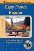 Easy French Reader W/CD-ROM: A Three-Part Text for Beginning Students (Easy Reader) Cover