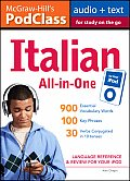 McGraw-Hill's PodClass Italian All-In-One Study Guide: Language Reference & Review for Your iPod [With Booklet]